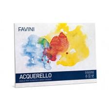 FAVINI ACQUERELLO FOGLI DA DISEGNO 10 FOGLI 25X35 GR. 340