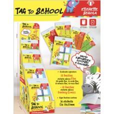 ESPOSITORE ETICHETTE  TAG TO SCHOOL